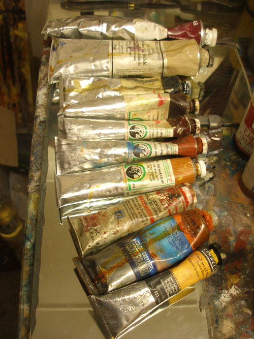 A selection of artists oil paints
