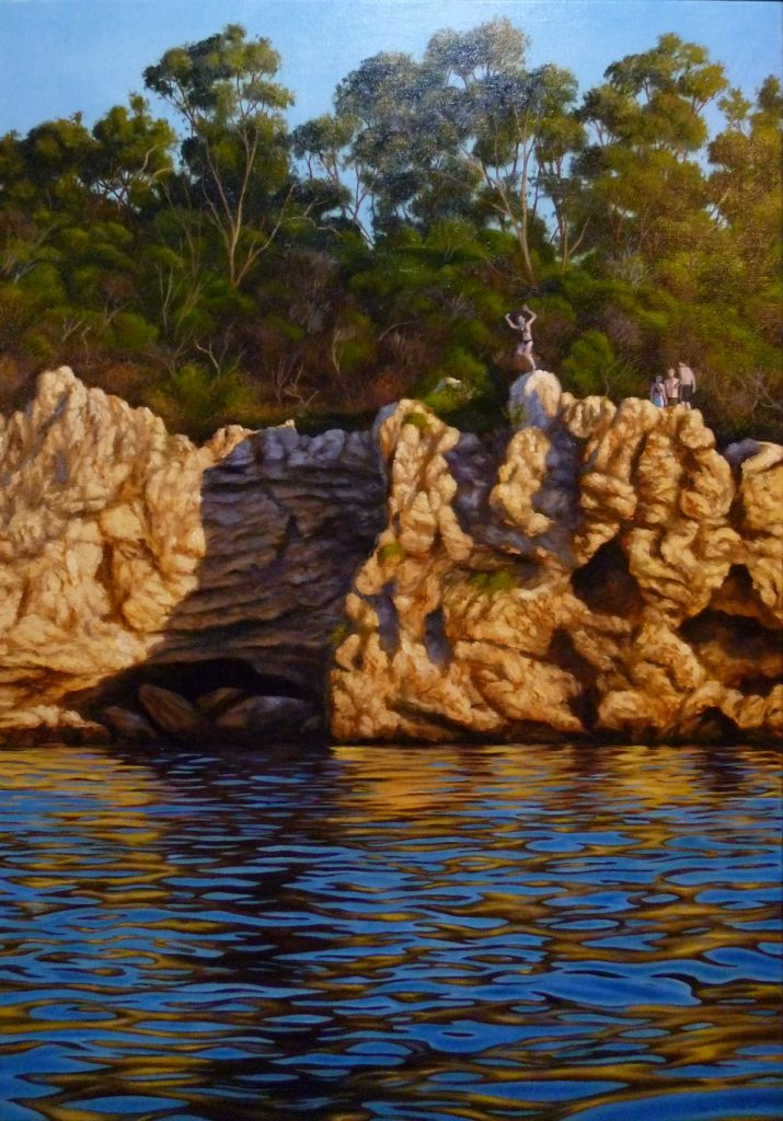 Blackwall reach Melville, Western Australia original oil painting by Ben Sherar