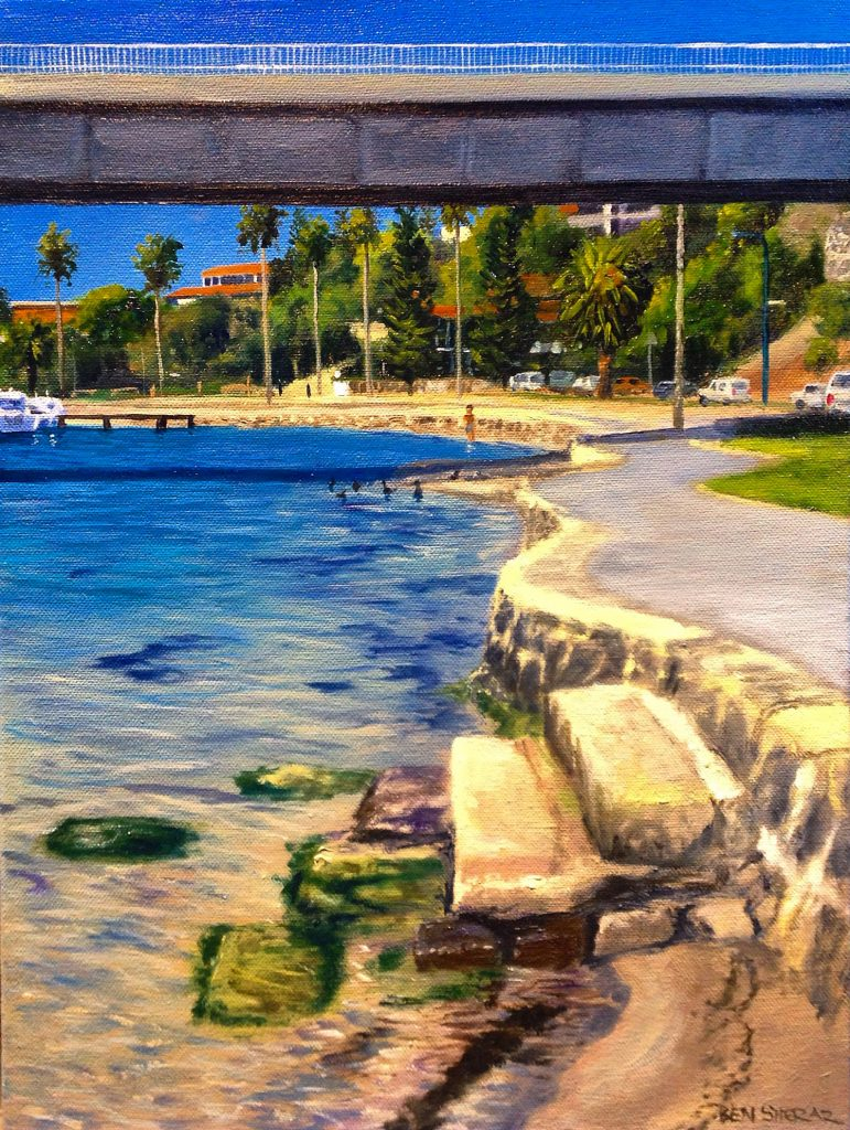 Original Oil Painting on canvas by Ben Sherar depicting the view up the Swan River in East Fremantle Western Australia
