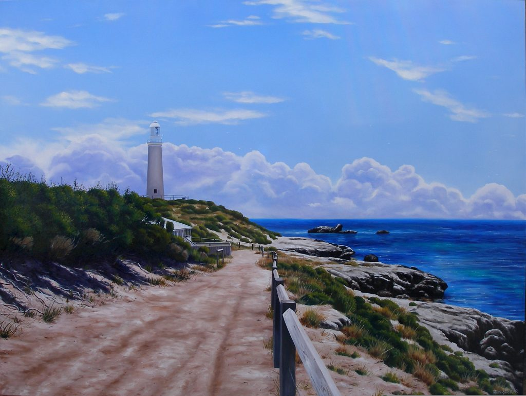 Bathurst Lighthouse Rottnest Island original oil painting by Ben Sherar
