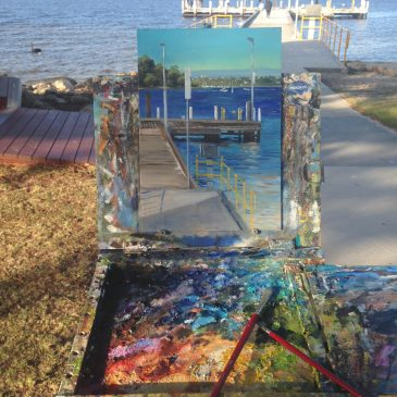 Plein air painting at Point Walter