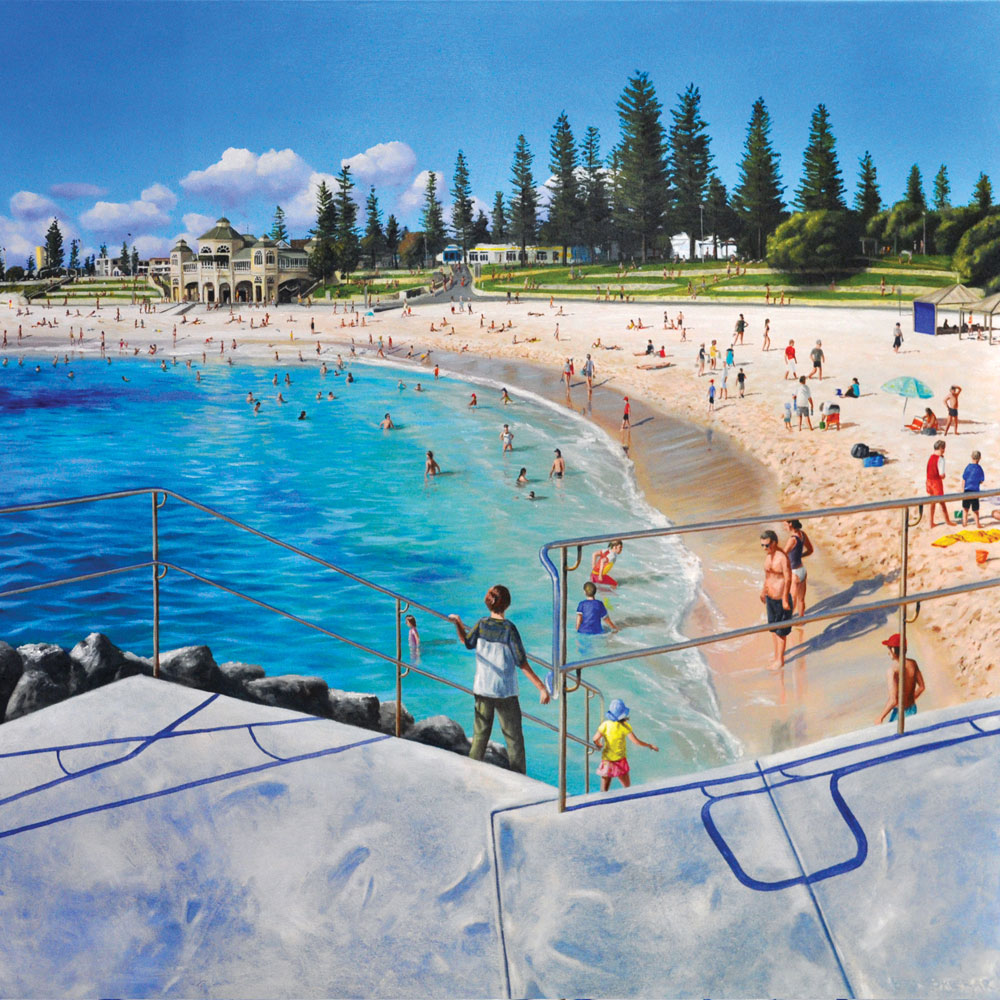 Cottesloe Beach Western Australia original oil painting by Ben Sherar
