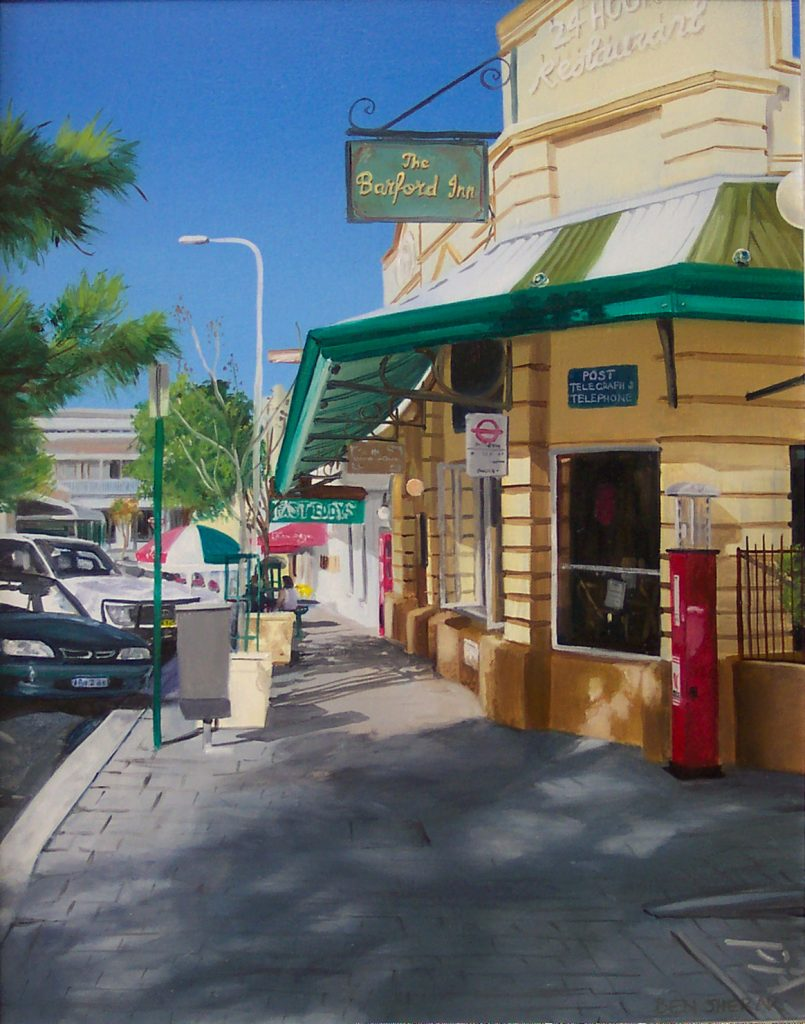 Essex street Fremantle Western Australia original oil painting by Ben Sherar