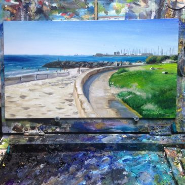 Sunny South Beach study – A quick little alla-prima painting
