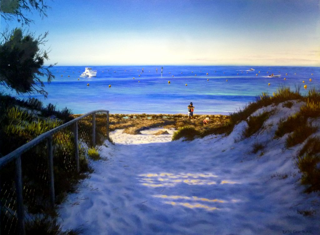 Thomson Bay Rottnest Island original oil painting by Ben Sherar