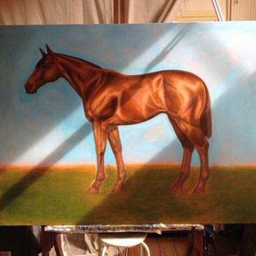 Large equestrian portrait