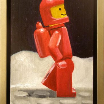 Classic Lego Spacemen paintings