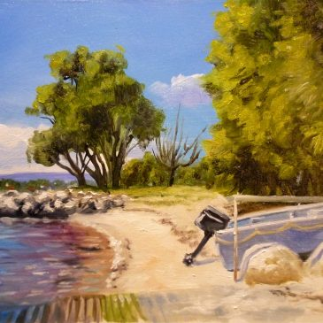 New painting video – River scene study