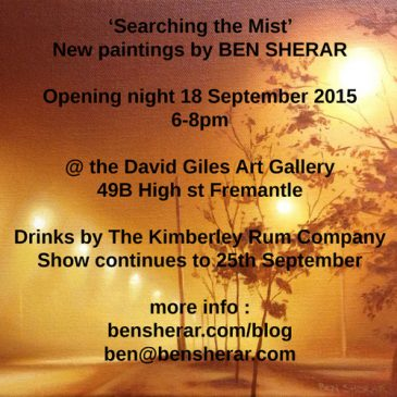'Searching the Mist' – Exhibition of new works 18 – 25th September