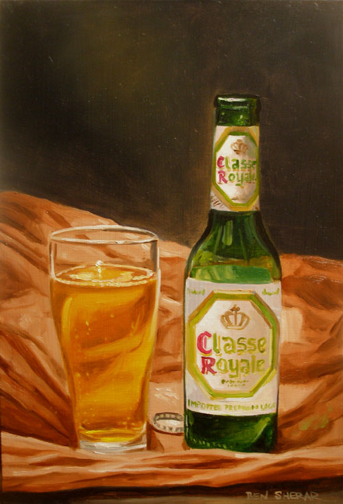 A painting of Classe Royale brand beer