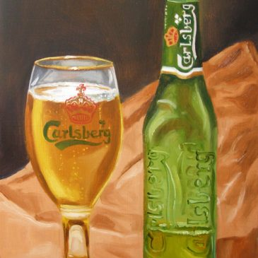 99 paintings of bottles of beer – Beer 16: Carlsberg