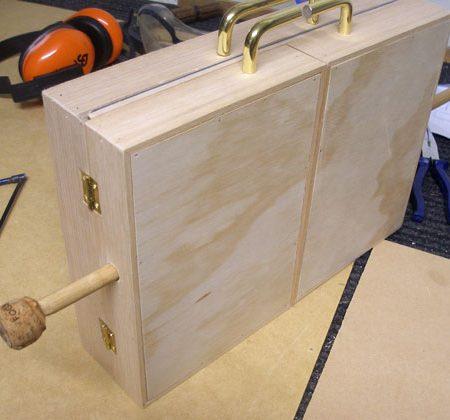A pochade box before varnishing