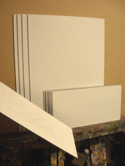 A photo of some artists panels ready to paint on