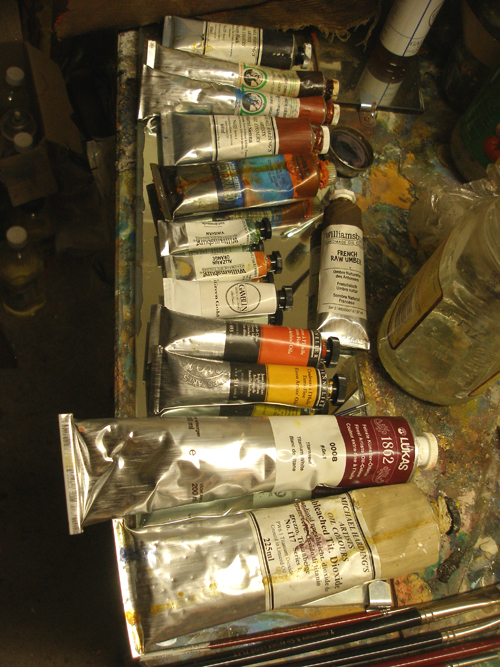 Oil paints ready to use