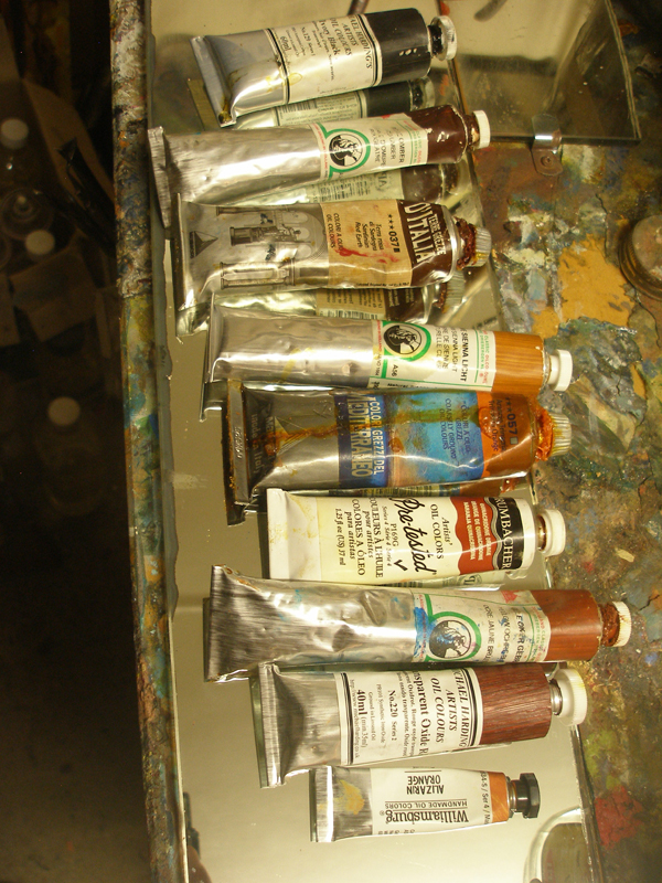 Some oil tubes ready for painting