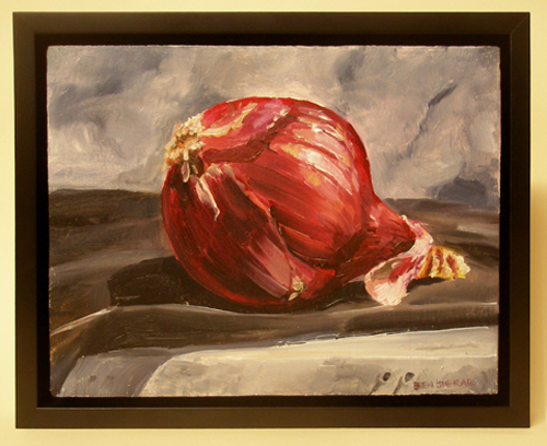 An awesome painitng of a red onion