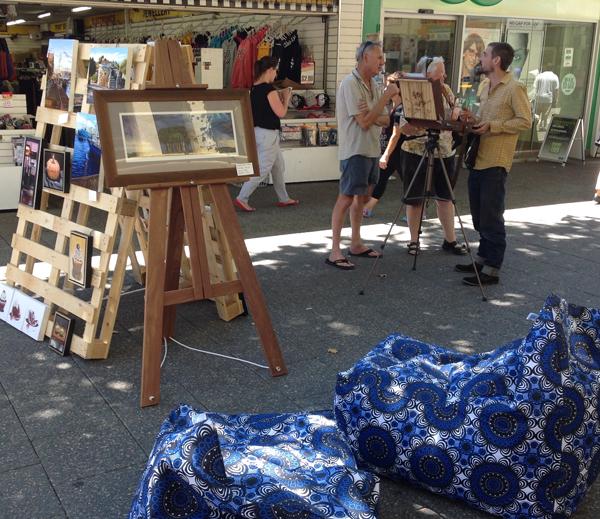 An artists market set up in Fremantle