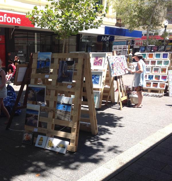 A street art market in fremantle