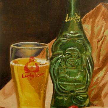 99 paintings of bottles of beer – Beer 10: Lucky Buddha Beer