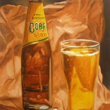 99 paintings of bottles of beer – Beer 11: Cobra Premium