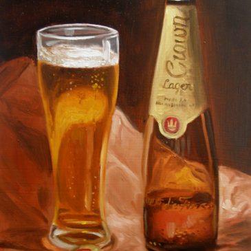 99 paintings of bottles of beer – Beer 6: Crown Lager