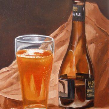 99 paintings of bottles of beer – Beer 7: Moo Brew Pale Ale