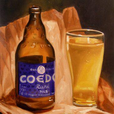 99 paintings of bottles of beer – Beer 8: Coedo 'Ruri' Pils