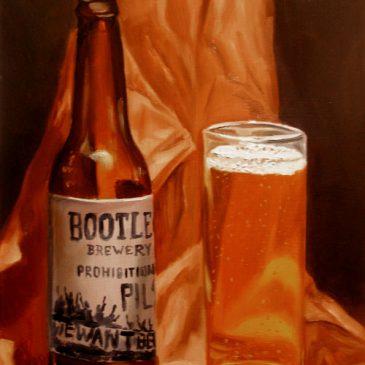 99 paintings of bottles of beer – Beer 9: Bootleg Brewery Prohibition Pils