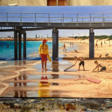 Small Coogee beach painting