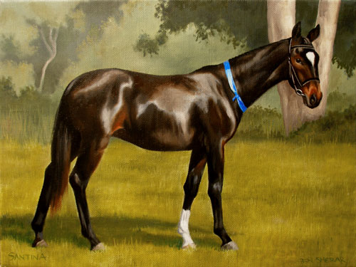 A painting of a horse