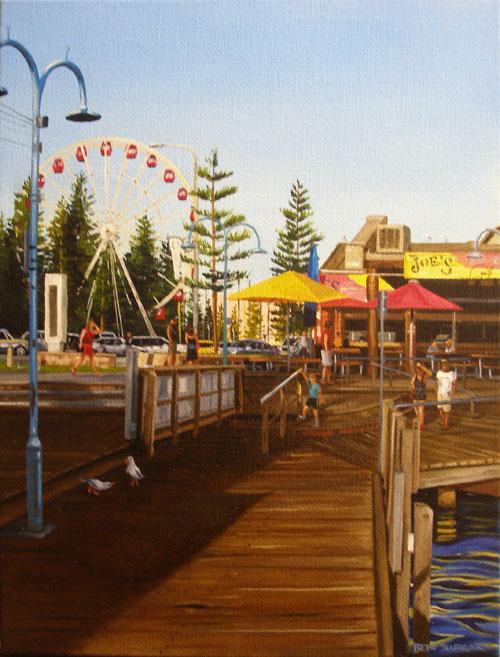An original painting by Ben Sherar of Fremantle